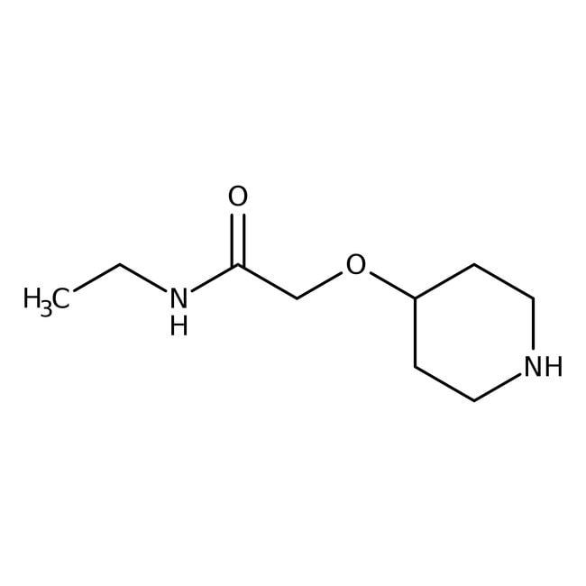 Alfa Aesar™N-Ethyl-2-(4-piperidinyloxy)acetamide, 98% 250mg Alfa Aesar™N-Ethyl-2-(4-piperidinyloxy)acetamide, 98%