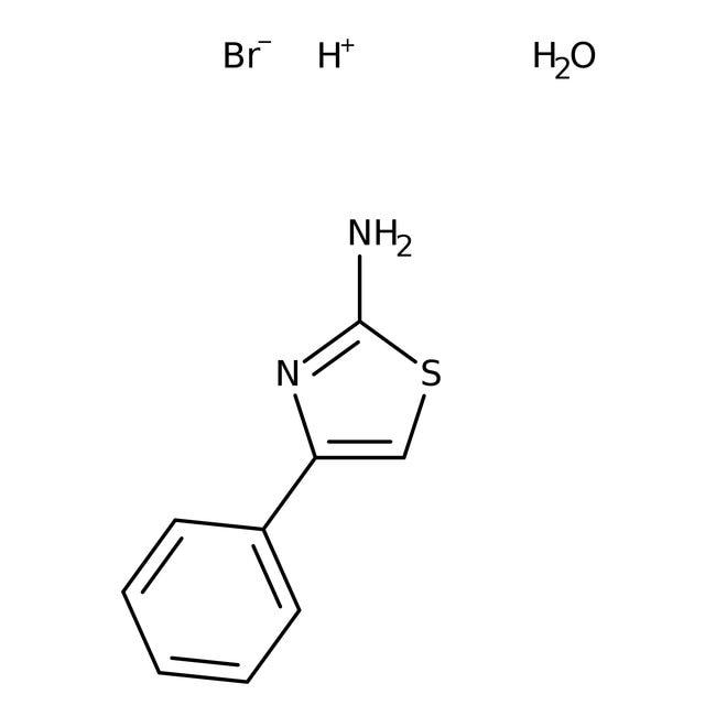 Alfa Aesar™2-Amino-4-phenylthiazole hydrobromide monohydrate, 99% 5g Alfa Aesar™2-Amino-4-phenylthiazole hydrobromide monohydrate, 99%