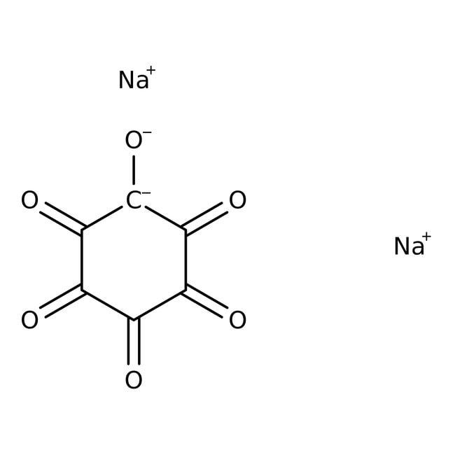 Rhodizonic acid, disodium salt, 98%, ACROS Organics™ 25g; Glass bottle Rhodizonic acid, disodium salt, 98%, ACROS Organics™