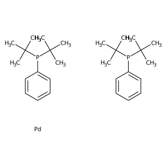 Alfa Aesar™Bis(di-tert.-Butyl-Phenylphosphin)palladium(0), Pd 19.3% 250mg Alfa Aesar™Bis(di-tert.-Butyl-Phenylphosphin)palladium(0), Pd 19.3%