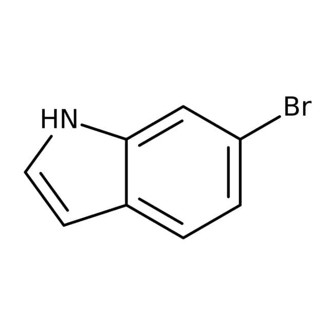 6-Bromoindole, 96%, ACROS Organics™ 250mg; Glass bottle 6-Bromoindole, 96%, ACROS Organics™