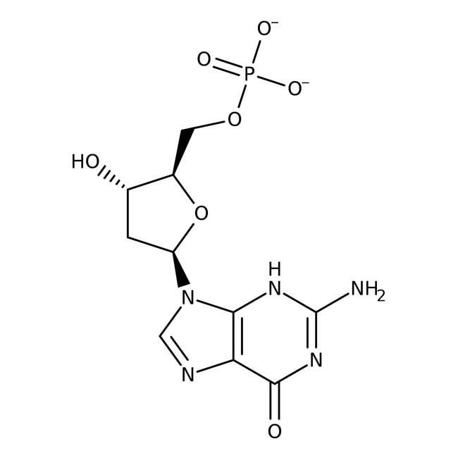 2'-Deoxyguanosine 5'-monophosphate, sodium salt hydrate, 99%, ACROS Organics™