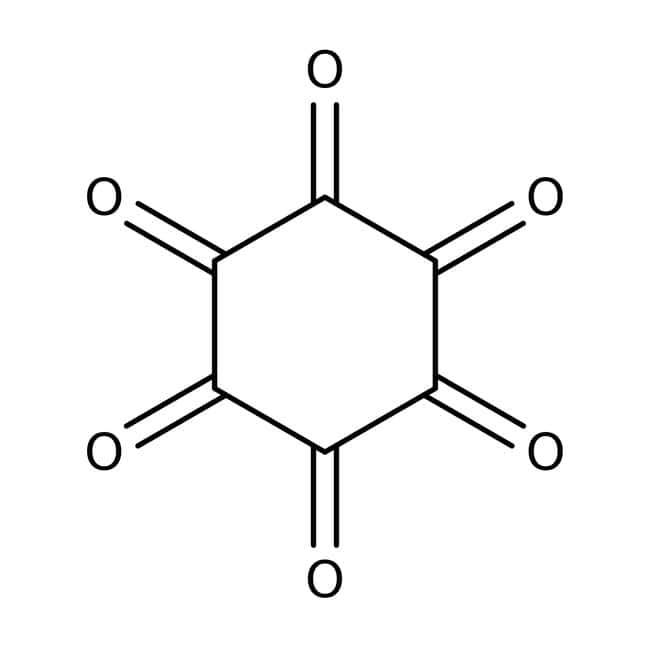 Hexaketocyclohexane octahydrate, 97%, ACROS Organics™ 10g; Glass bottle Hexaketocyclohexane octahydrate, 97%, ACROS Organics™