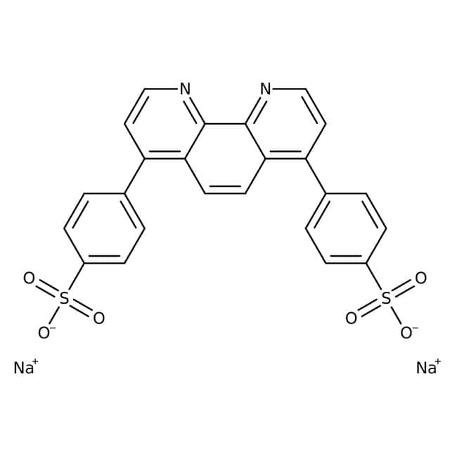 Bathophenanthrolinedisulfonic acid, disodium salt hydrate, 98%, ACROS Organics™