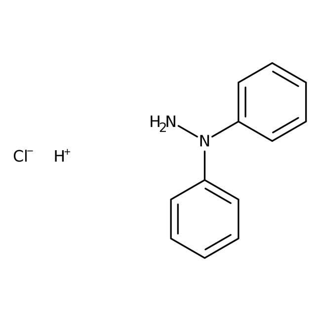 Alfa Aesar™1,1-Diphenylhydrazinhydrochlorid, 98% 5g Alfa Aesar™1,1-Diphenylhydrazinhydrochlorid, 98%