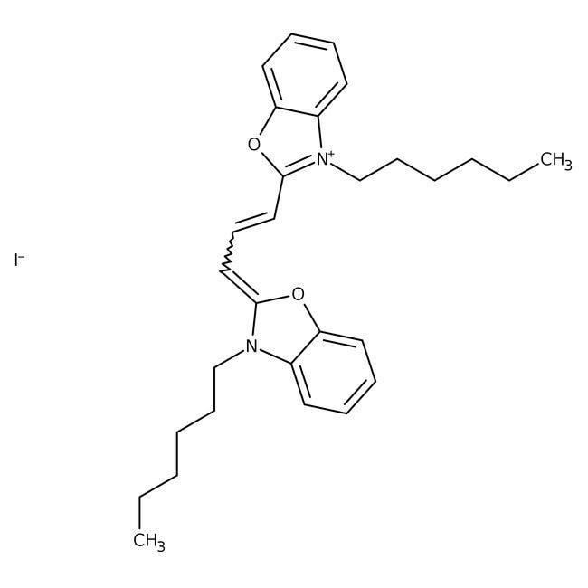 Alfa Aesar™3,3'-Di-n-hexyloxacarbocyanine iodide, 98% 5g Alfa Aesar™3,3'-Di-n-hexyloxacarbocyanine iodide, 98%