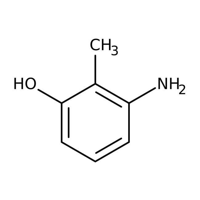 3-Amino-o-cresol, 95%, ACROS Organics™ 250mg; Glass bottle 3-Amino-o-cresol, 95%, ACROS Organics™