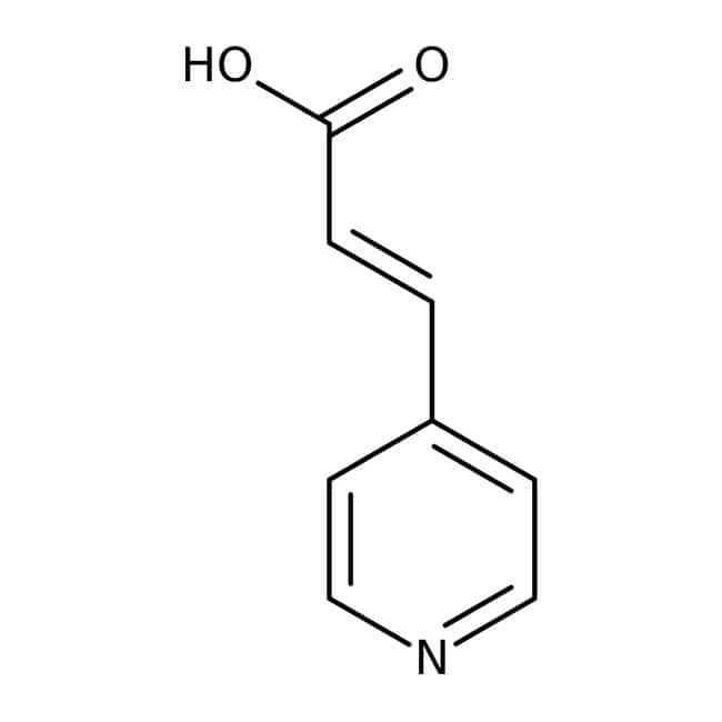 3-(4-Pyridyl)acrylic acid, 97%, ACROS Organics™ 1g; Glass bottle 3-(4-Pyridyl)acrylic acid, 97%, ACROS Organics™