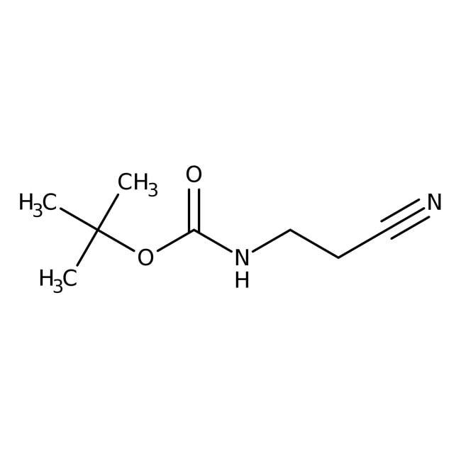 tert-Butyl N-(2-cyanoethyl)carbamate, 97%, Maybridge™ Amber Glass Bottle; 1g tert-Butyl N-(2-cyanoethyl)carbamate, 97%, Maybridge™