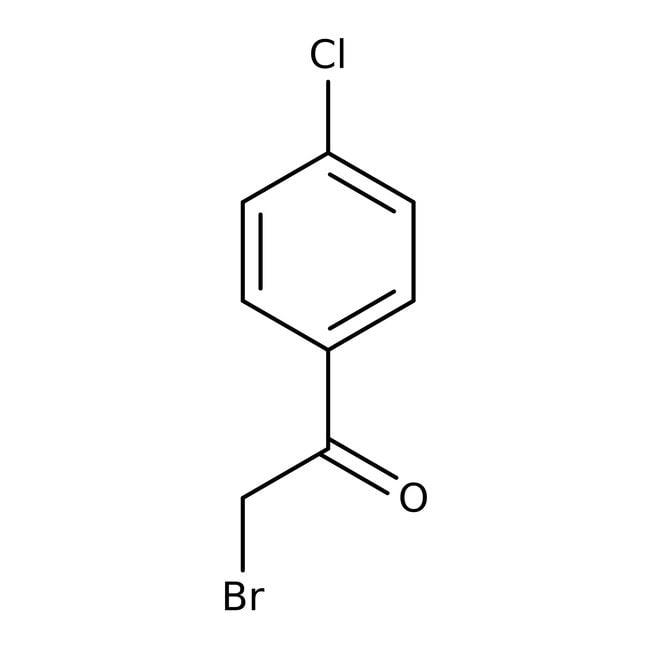 2-Bromo-4'-chloroacetophenone, 98+%, ACROS Organics™ 100g; Glass bottle 2-Bromo-4'-chloroacetophenone, 98+%, ACROS Organics™
