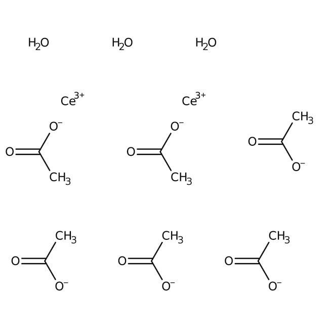 Alfa Aesar™Cerium(III) acetate sesquihydrate, REacton™, 99.99% (REO)