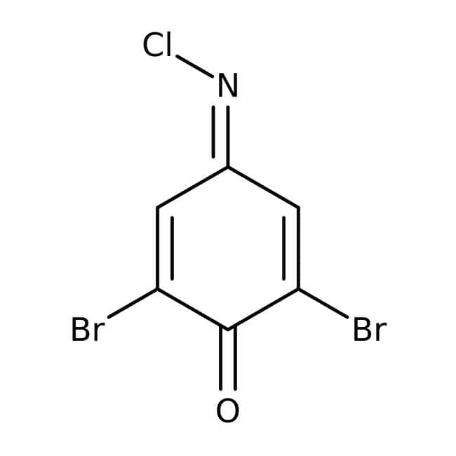 2,6-dibromo-N-chloro-p-benzoquinonéimine, 97%, ACROS Organics™ 25g; flacon en verre 2,6-dibromo-N-chloro-p-benzoquinonéimine, 97%, ACROS Organics™