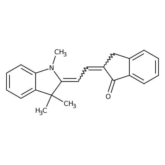 trans-2-[trans-2-(1,3,3-Trimethyl-2-indolinylidene)ethylidene]-1-indanon, 96%, Alfa Aesar™ 250mg trans-2-[trans-2-(1,3,3-Trimethyl-2-indolinylidene)ethylidene]-1-indanon, 96%, Alfa Aesar™