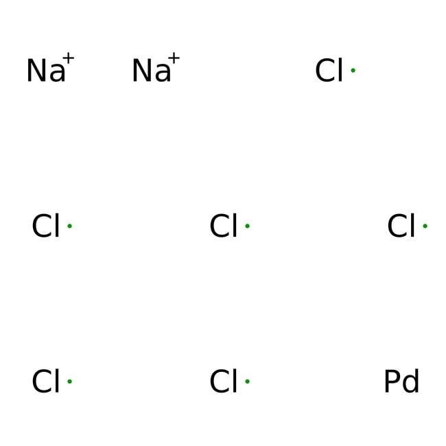 Alfa Aesar™Hydrate d'hexachloropalladate de sodium(IV), 99,9% (base de métaux) 25g Alfa Aesar™Hydrate d'hexachloropalladate de sodium(IV), 99,9% (base de métaux)