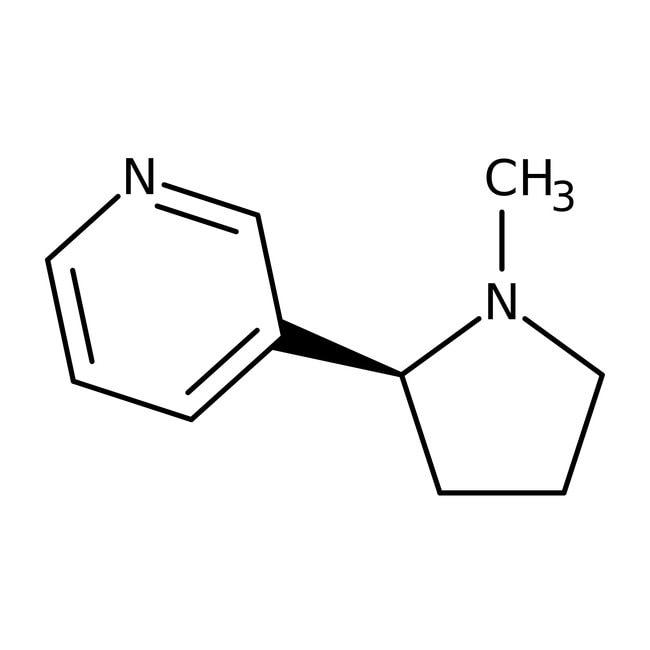 L-Nicotine, 99+%, ACROS Organics™ 5g; Glass bottle L-Nicotine, 99+%, ACROS Organics™