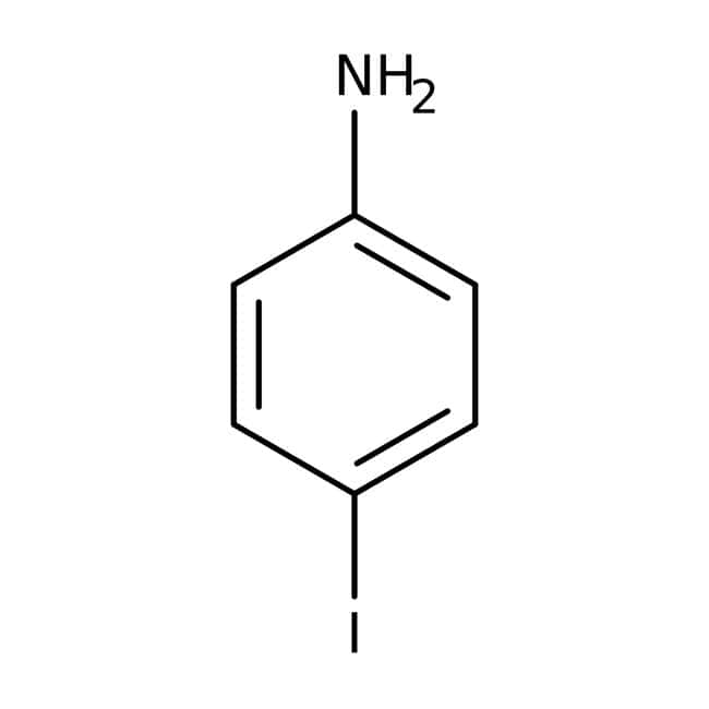 4-Iodoaniline, 99%, ACROS Organics™ 500g; Glass bottle 4-Iodoaniline, 99%, ACROS Organics™