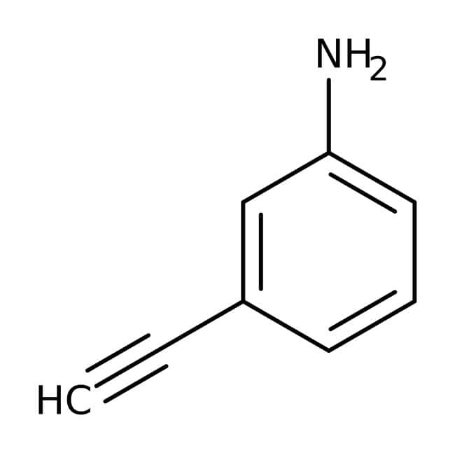 3-Aminophenylacetylene, 98%, ACROS Organics™ 25g; Glass bottle 3-Aminophenylacetylene, 98%, ACROS Organics™