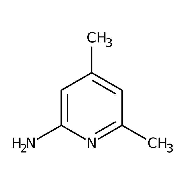 2-amino-4,6-diméthylpyridine, 99%, ACROS Organics™ 5g; flacon en verre 2-amino-4,6-diméthylpyridine, 99%, ACROS Organics™