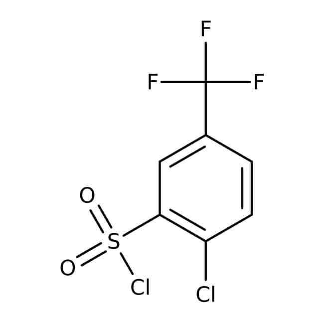 2-chloro-5-(trifluoromethyl)benzene-1-sulfonyl chloride, 97%, Maybridge™ Amber Glass Bottle; 1g 2-chloro-5-(trifluoromethyl)benzene-1-sulfonyl chloride, 97%, Maybridge™
