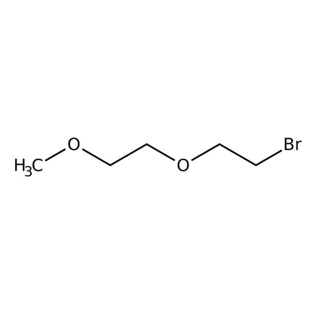1-Bromo-2-(2-methoxyethoxy)ethane, 90%, stabilized with sodium carbonate, ACROS Organics™ 50g; Glass bottle 1-Bromo-2-(2-methoxyethoxy)ethane, 90%, stabilized with sodium carbonate, ACROS Organics™
