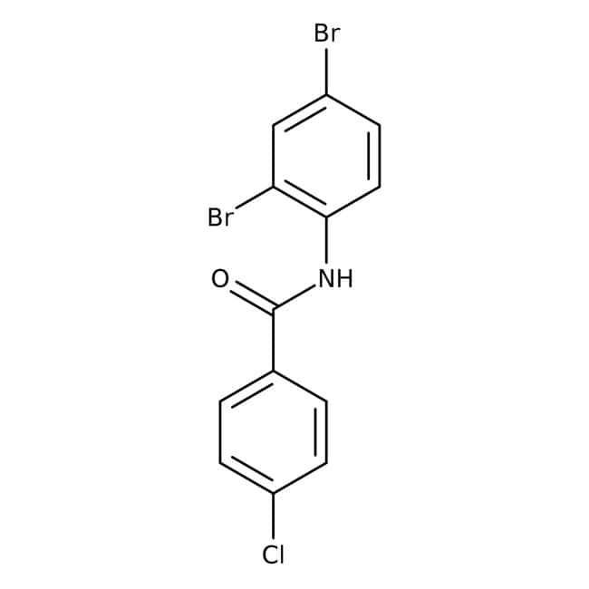 Alfa Aesar™N-(2,4-Dibromophenyl)-4-chlorobenzamide, 97% 250mg Alfa Aesar™N-(2,4-Dibromophenyl)-4-chlorobenzamide, 97%