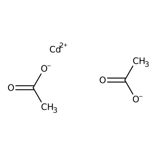 Cadmium acetate, 98%, pure, anhydrous, ACROS Organics™ 250g Cadmium acetate, 98%, pure, anhydrous, ACROS Organics™