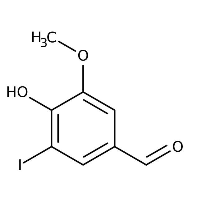 5-Iodovanillin, 97%, Acros Organics 25g; Glass bottle 5-Iodovanillin, 97%, Acros Organics