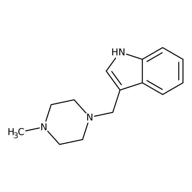 Alfa Aesar™3-(4-Methyl-1-piperazinylmethyl)indole, 95% 250mg Alfa Aesar™3-(4-Methyl-1-piperazinylmethyl)indole, 95%