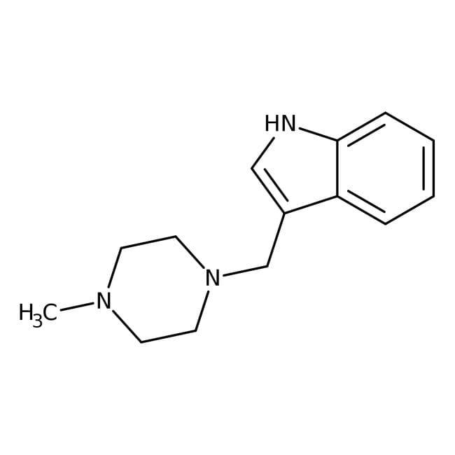 Alfa Aesar™3-(4-Methyl-1-piperazinylmethyl)indole, 95% 5g Alfa Aesar™3-(4-Methyl-1-piperazinylmethyl)indole, 95%