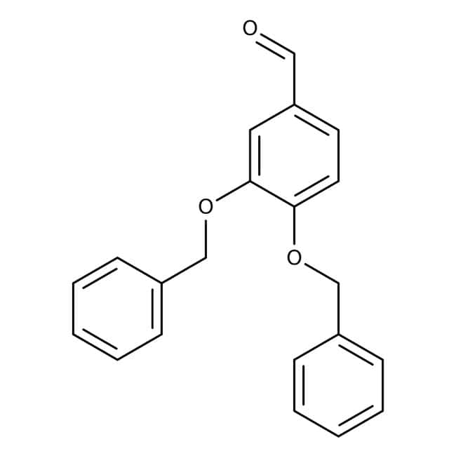 3,4-Dibenzyloxybenzaldehyde, 99%, ACROS Organics™ 25g; Glass bottle 3,4-Dibenzyloxybenzaldehyde, 99%, ACROS Organics™
