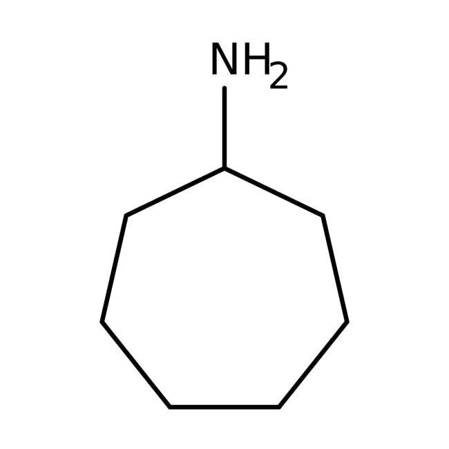 Cycloheptylamine, 99%, Acros Organics 25g; Glass bottle Cycloheptylamine, 99%, Acros Organics