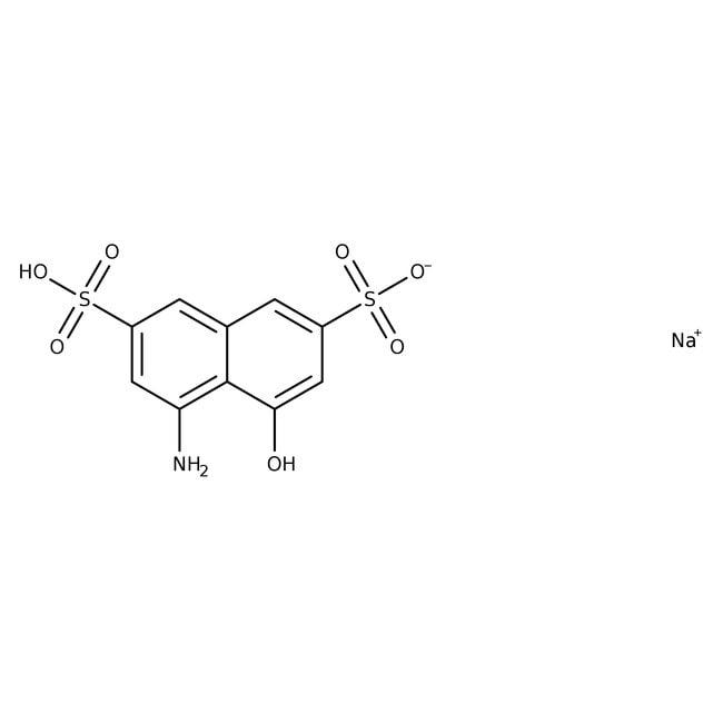 8-Amino-1-naphthol-3,6-disulfonic acid, monosodium salt monohydrate, 80%, tech., ACROS Organics™ 500g; Glass bottle 8-Amino-1-naphthol-3,6-disulfonic acid, monosodium salt monohydrate, 80%, tech., ACROS Organics™