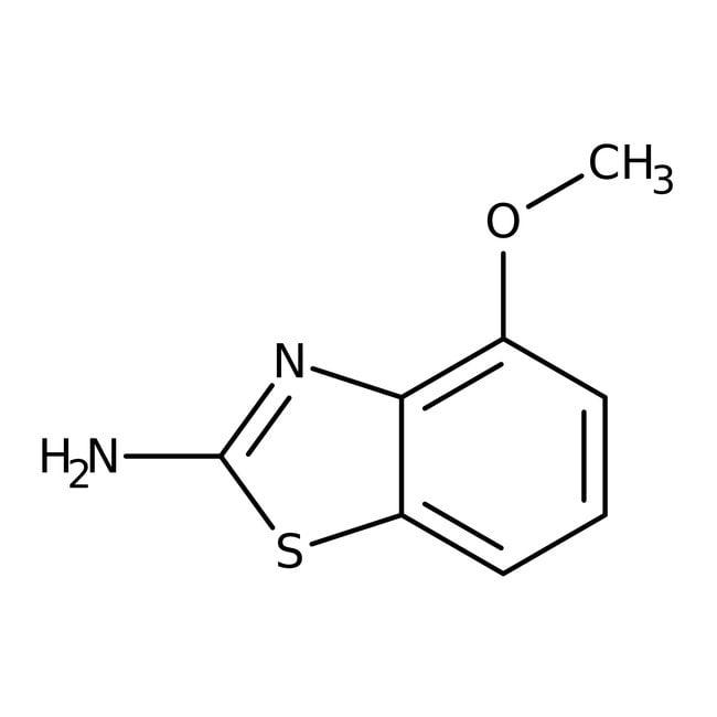 2-Amino-4-methoxybenzothiazole, 97%, ACROS Organics™ 25g; Glass bottle 2-Amino-4-methoxybenzothiazole, 97%, ACROS Organics™