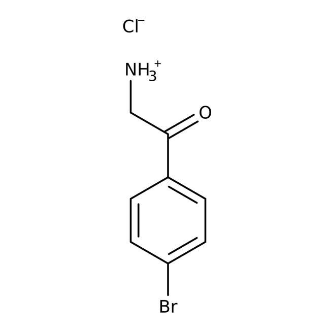 2-Amino-4'-bromoacetophenone hydrochloride, 97%, ACROS Organics™ 5g; Glass bottle 2-Amino-4'-bromoacetophenone hydrochloride, 97%, ACROS Organics™