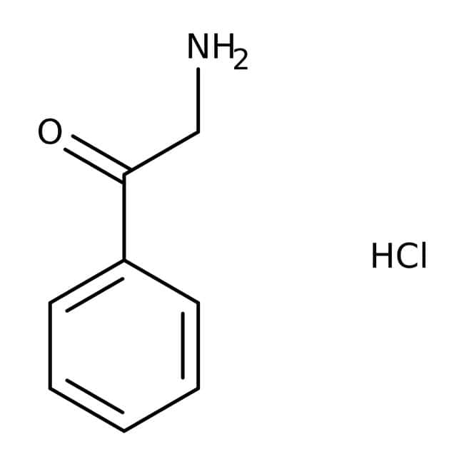 Chlorhydrate de 2-aminoacétophénone, 96%, ACROS Organics™ 25g; flacon en verre Chlorhydrate de 2-aminoacétophénone, 96%, ACROS Organics™