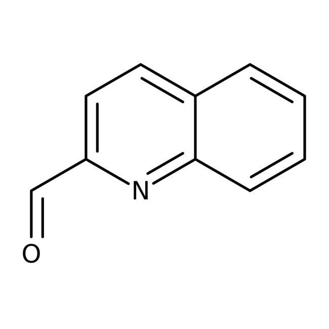 2-quinolinecarboxaldéhyde, 97%, ACROS Organics™ 25g; flacon en verre 2-quinolinecarboxaldéhyde, 97%, ACROS Organics™