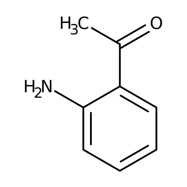 2'-Aminoacetophenone, 97%, ACROS Organics™ 10g; Glass bottle 2'-Aminoacetophenone, 97%, ACROS Organics™