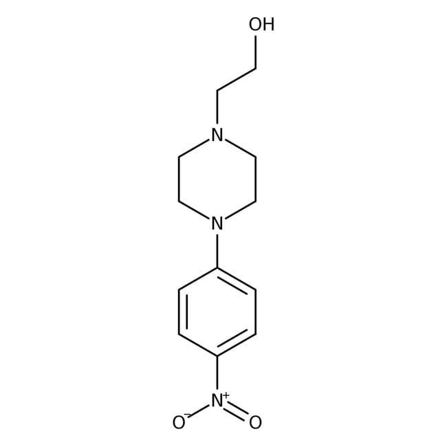 2-[4-(4-Nitrophenyl)-1-piperazinyl]-ethanol, 97%, Alfa Aesar™ 1g 2-[4-(4-Nitrophenyl)-1-piperazinyl]-ethanol, 97%, Alfa Aesar™