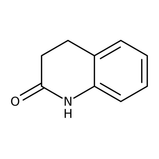 3,4-Dihydro-2(1H)-quinolinone, 98%, ACROS Organics™ 10g; Glass bottle 3,4-Dihydro-2(1H)-quinolinone, 98%, ACROS Organics™