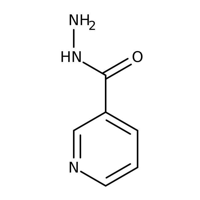 Nicotinic acid hydrazide, 97%, ACROS Organics™ 100g; Plastic bottle Nicotinic acid hydrazide, 97%, ACROS Organics™