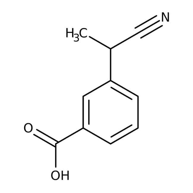 Alfa Aesar™3-(1-Cyanoethyl)benzoic acid, 98% 1g Alfa Aesar™3-(1-Cyanoethyl)benzoic acid, 98%