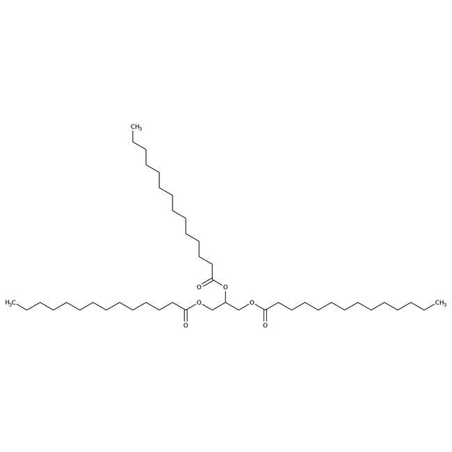 Trimyristin, 90%, ACROS Organics™ 25g; Glass bottle Trimyristin, 90%, ACROS Organics™