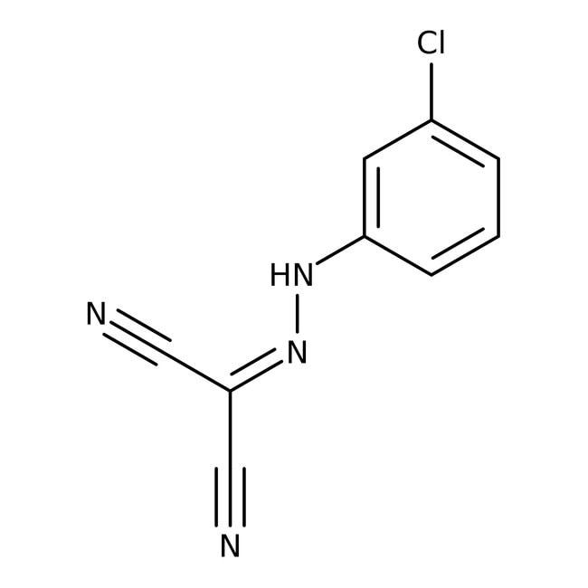 Carbonyl cyanide 3-chlorophenylhydrazone, 98 , ACROS Organics