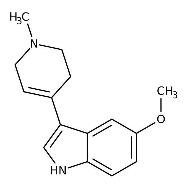 Alfa Aesar™5-Methoxy-3-(1-methyl-1,2,3,6-tetrahydro-4-pyridyl)indol, 97% 250mg Alfa Aesar™5-Methoxy-3-(1-methyl-1,2,3,6-tetrahydro-4-pyridyl)indol, 97%