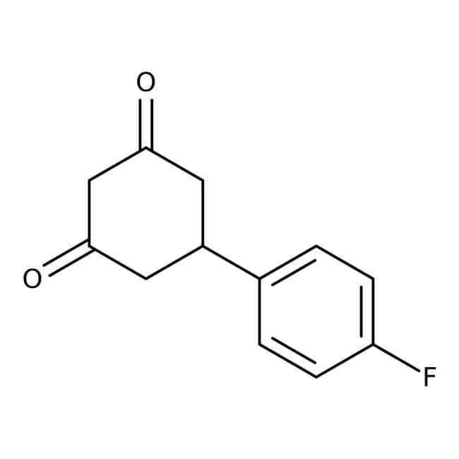 5-(4-Fluorophenyl)cyclohexane-1,3-dione, 95%, Maybridge™ 10g 5-(4-Fluorophenyl)cyclohexane-1,3-dione, 95%, Maybridge™