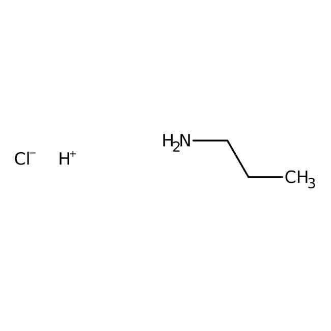 Propylamine hydrochloride, 99+%, ACROS Organics™ 100g; Glass bottle Propylamine hydrochloride, 99+%, ACROS Organics™
