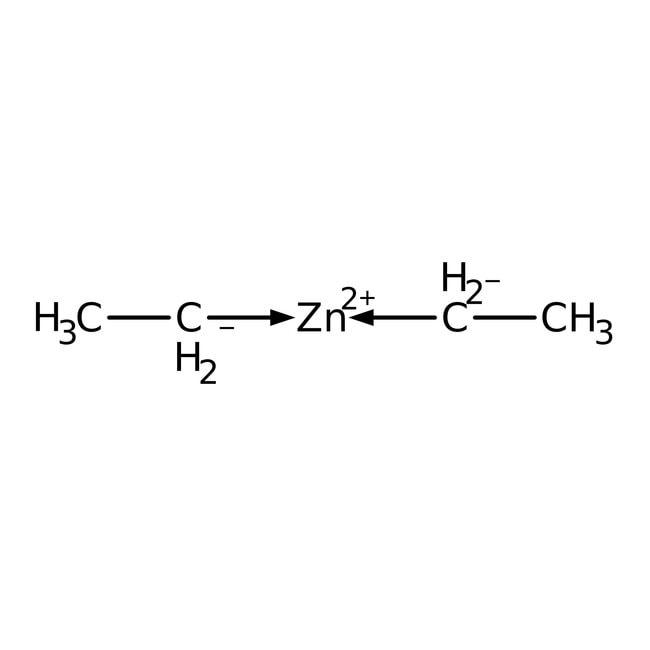 Diethylzinc, 0.9M (15 wt%) solution in hexane, AcroSeal™, ACROS Organics™ 100mL; AcroSeal glass bottle packed in tin can Diethylzinc, 0.9M (15 wt%) solution in hexane, AcroSeal™, ACROS Organics™