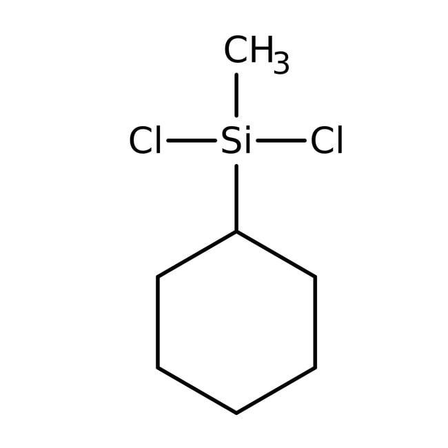 Cyclohexylmethyldichlorosilane, 97+%, ACROS Organics™ 50mL; Glass bottle Cyclohexylmethyldichlorosilane, 97+%, ACROS Organics™