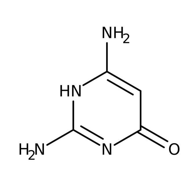 2,4-diamino-6-hydroxypyrimidine 96%, Acros Organics 100g ; flacon en plastique 2,4-diamino-6-hydroxypyrimidine 96%, Acros Organics