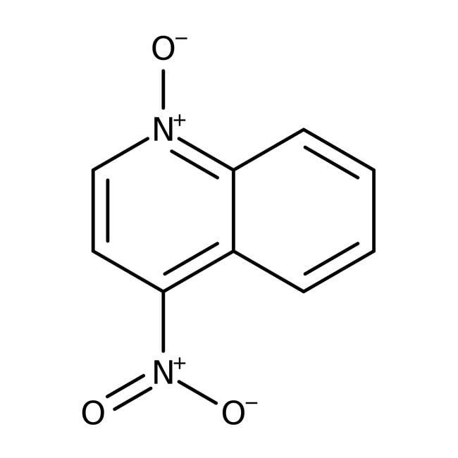 4-Nitroquinoline-N-oxide, 98%, ACROS Organics™ 250mg; Glass bottle 4-Nitroquinoline-N-oxide, 98%, ACROS Organics™